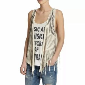 Haute Hippie Beaded Vest with Fringe